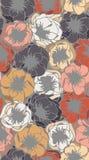 Vallmo i pastellfärger Arkivbilder