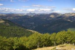 Vallo di Diano. Southern Italy-Landscape of the Vallo of Diano Stock Photo