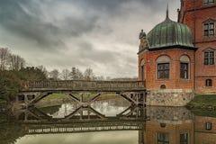Vallo fosy Grodowy Drewniany most obraz stock