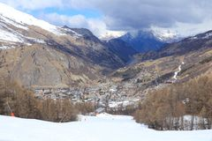 Valloire, француз Альпы стоковое изображение