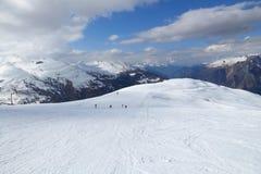 Valloire-Ski Piste lizenzfreie stockfotos