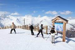 Valloire skiing Stock Image