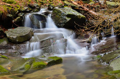 Vallombrosa forest, waterfall 4 Royalty Free Stock Images