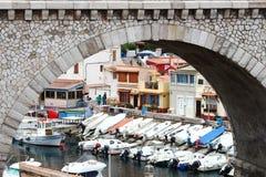 Vallon des Auffes, een deel van Marseille, Frankrijk Royalty-vrije Stock Foto's