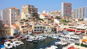 The Vallon des Auffes, Marseilles, France stock video footage