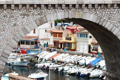 Vallon des Auffes, part of Marseille, France Royalty Free Stock Photos