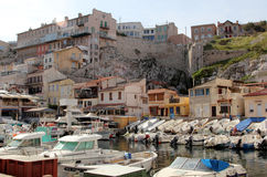 Vallon des Auffes port in Marseille Royalty Free Stock Photo