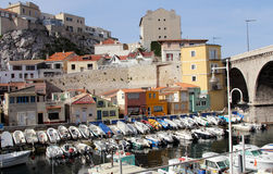 Vallon des Auffes port in Marseille Royalty Free Stock Images