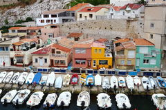 Vallon des Auffes, region of Marseille, France Royalty Free Stock Photo
