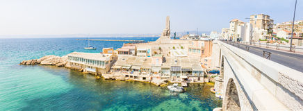 Vallon des Auffes and the war memorial, Marseilles Stock Images