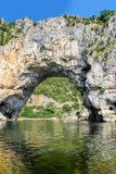 Vallon Pont d'Arc, Natural Rock bridge over the River in the Ard Royalty Free Stock Photography