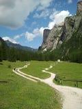 Vallongia paths in Dolomiti mountains Stock Photos