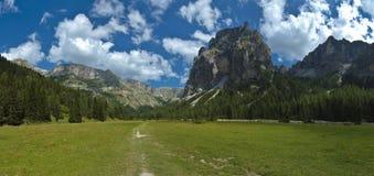 Vallunga, dolomia - Italia Fotografia Stock Libera da Diritti