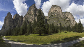 Vallunga, Dolomit - Italien Stockfotografie