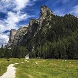 Vallunga, dolomity - Włochy Obraz Royalty Free