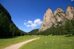 Vallunga (Val Gardena) Stock Images