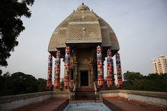 Valluvar Kottam in Chennai, India is een blokkenwagen gevormd gedenkteken gewijd aan de Tamil dichter Tiruvalluvar royalty-vrije stock foto