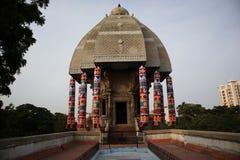 Valluvar Kottam i Chennai, Indien är triumfvagnen format minnes- hängivet till tamilpoeten Tiruvalluvar royaltyfri foto