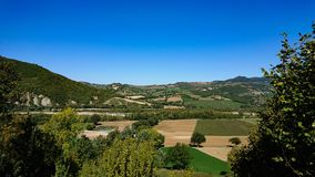 Ландшафт Valmarrechia Италии стоковое фото