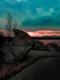 Valmayor swamp. Beautiful point of view.Valmayor swamp,Madrid.Spain Stock Photography