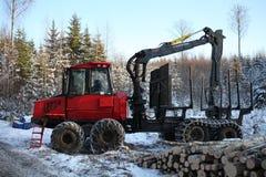 Valmet 840tx skogsbruk Fotografering för Bildbyråer