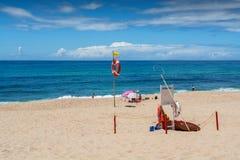 Valmitao海滩在Lourinha,葡萄牙 免版税图库摄影