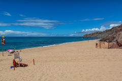 Valmitao海滩在Lourinha,葡萄牙 免版税库存图片