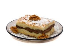 valnöt för stycke för cakeoststuga Royaltyfri Bild