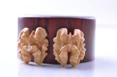Valnötter--en sort av populära muttrar i världen arkivbilder