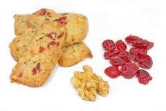 valnöt för julkakacranberry royaltyfri bild