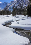 Valnontey在Gran Paradiso国家公园 免版税库存照片