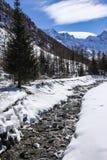 Valnontey Cogne en parc national de Paradiso de mamie Photo libre de droits