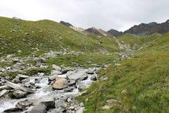 Valnontey, el valle de Aosta Italia Imagen de archivo libre de regalías
