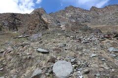 Valnontey en el parque nacional de Gran Paradiso Valle D'Aosta Italia Fotografía de archivo