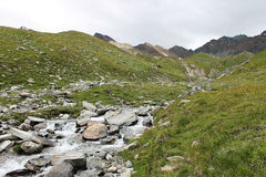 Valnontey, la vallée d'Aoste Italie Image libre de droits
