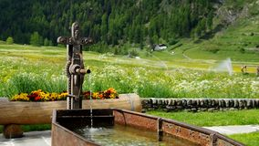Valnontey. A valley in the Aosta region in Italy Alps stock video