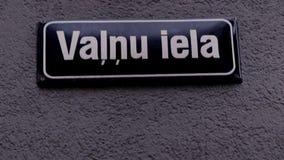 Valnu Street Sign Riga Latvia stock video footage