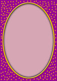 Óvalo del color de rosa con las estrellas alrededor Imagen de archivo libre de regalías