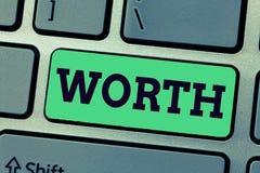 Valor da escrita do texto da escrita O significado do conceito equivalente no valor ao artigo da soma especificou importante sufi fotos de stock royalty free