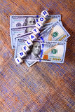 Valor da inflação Imagem de Stock