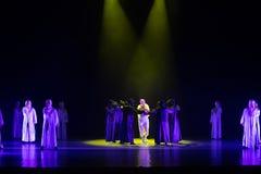 Valor-danza de la Lucha-independiente con un ` de la danza del ` s de máscara-Huang Mingliang ningún ` del refugio fotografía de archivo libre de regalías