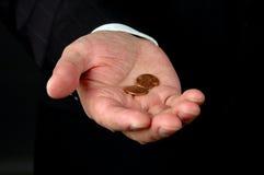 Valor de duas moedas de um centavo foto de stock