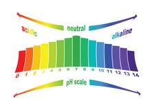 Valor de escala del pH, aislado Imagenes de archivo