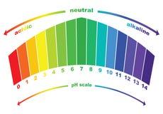 Valor de escala del pH, vector aislado Imágenes de archivo libres de regalías
