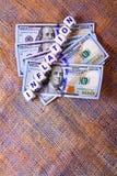Valor de la inflación Imagen de archivo