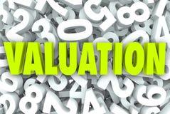 Valor de negocio de la evaluación 3d Word Company digno de múltiplos del precio Foto de archivo libre de regalías