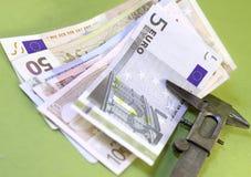 Valor del dinero Imagen de archivo libre de regalías