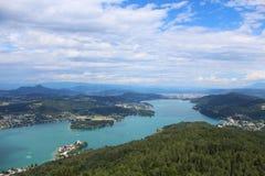 Valor del lago, en Austria Imagen de archivo