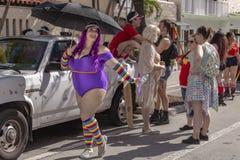 Valor del lago, la Florida, los E.E.U.U. 31 de marzo de 2019 antes, Palm Beach Pride Parade imagenes de archivo