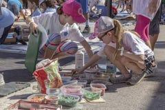 Valor del lago, la Florida, los E.E.U.U. 23-24 fabuloso, 25to Fest anual de la pintura de la calle 2019 imagen de archivo